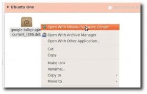 Pachetele .deb se vor instala cu Ubuntu Software Center in versiunea Ubuntu 10.10 Maverick Meerkat