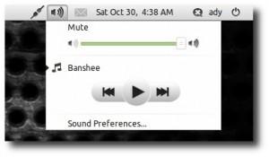 Cum integram playerul Banshee cu indicatorul de sunet (Sound Menu) din Ubuntu 10.10